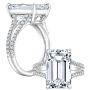 Natural Split Shank Pave Setting Diamond Engagement Ring