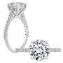 Natural Ultra Thin Pave Diamond Engagement Ring