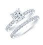 U-Pave on Prongs Diamond Engagement Ring