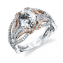 Parade Design Hemeral Bridal Interlaced Pave Diamond Engagement Ring