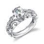 Parade Design Hera Bridal Vintage Milgrain Etched Scroll Design Ring