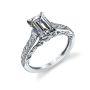 Parade Design Hera Bridal Twist Scrolls Milgrain Pave Design Ring