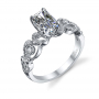 Parade Design Hera Bridal Meandering Vines Milgrain Pave Design Ring