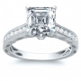 Art Deco Channel Setting Natural Diamonds Engagement Ring