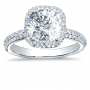 Halo Micro Pave Diamond Engagement Ring