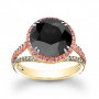Halo Two Toned with Natural Pink Diamonds Engagement Ring