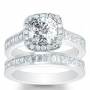 Halo Pave Channel Set Diamond Engagement Ring