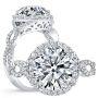 Halo Twisted Infinity Diamond Engagement Ring