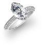 Micro Pave Natural Diamond Engagement Ring