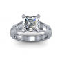 Contemporary Design Pave Natural Diamond Engagement Ring
