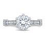 Edwardian Vintage Pave Diamond Engagement Ring