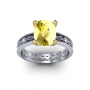 Sinewave Shank w/ Marquise Sidestone Natural Diamonds Engagement Ring