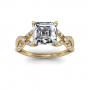 Split shank w/ Accents Sidestones Natural Diamonds Engagement Ring