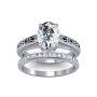 3mm Vintage Design Shank w/ Side Milgrain Inset Solitaire Natural Diamond Engagement Ring