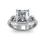 3mm Swirl Design Solitaire Setting Natural Diamonds Ring