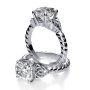 Celtic Knot Rope Design Engagement Ring