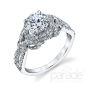 Parade Design Hemera Bridal Woven Design Halo Pave Ring