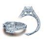 Filigree Verragio Designer Venetian Pave Diamond Engagement Ring