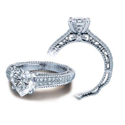 Filigree Heart Shape Engagement Rings