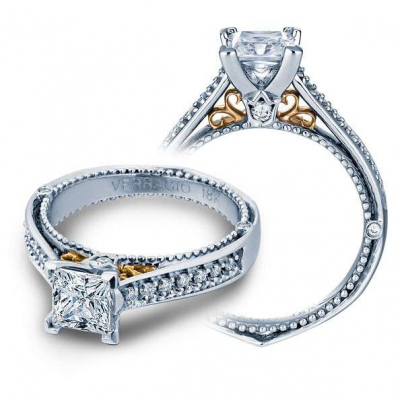 Two Tone White Gold Engagement Rings