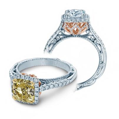 Two Tone Yellow Diamond Engagement Rings