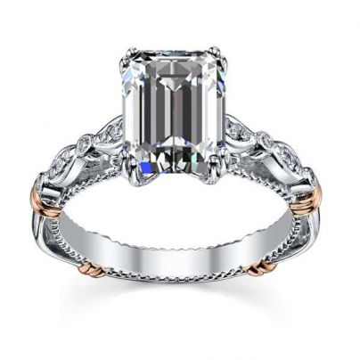 Stylish Emerald cut Engagement Rings