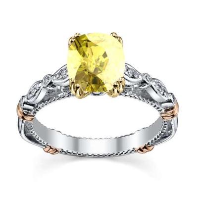Modern Yellow Diamond Engagement Rings