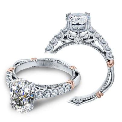 Filigree Oval cut Engagement Rings