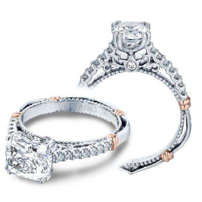 Filigree Cushion cut Engagement Rings