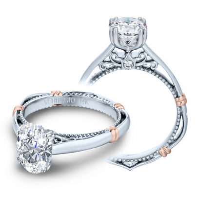 Milgrains Oval cut Engagement Rings