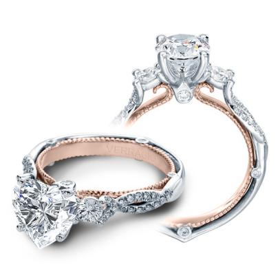 Infinity Heart Shape Engagement Rings