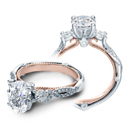 Infinity Oval cut Engagement Rings