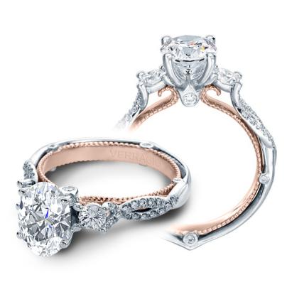 Milgrains Oval cut Engagement Rings