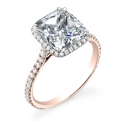Rose Gold Princess Cut Engagement Rings Diamond Mansion