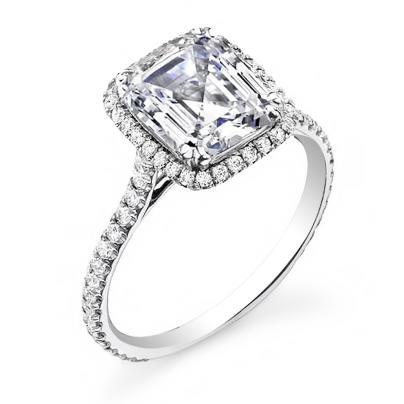 Simple Asscher cut Engagement Rings