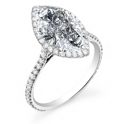Micro Pave Marquise cut Engagement Rings