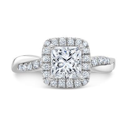 Eternity Split Shank Engagement Rings