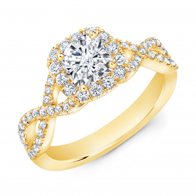 Infinity Yellow Gold Engagement Rings