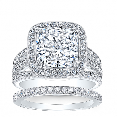 Split Shank Bridal Wedding Ring Sets