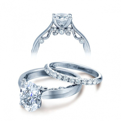 Simple Oval cut Engagement Rings