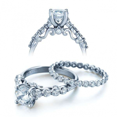 Filigree Bezel Set Engagement Rings