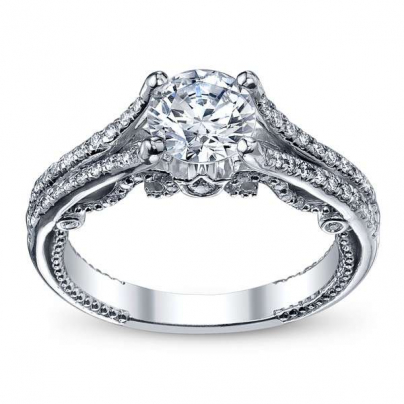 Milgrains Split Shank Engagement Rings