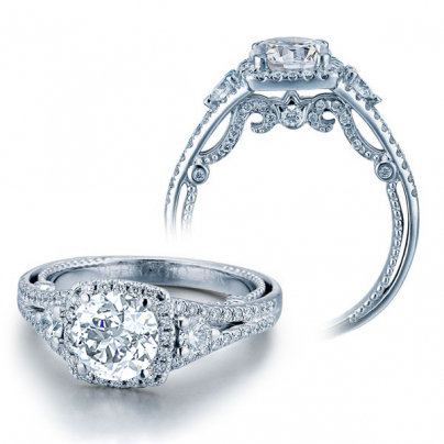 Split Shank Three Stone Engagement Rings