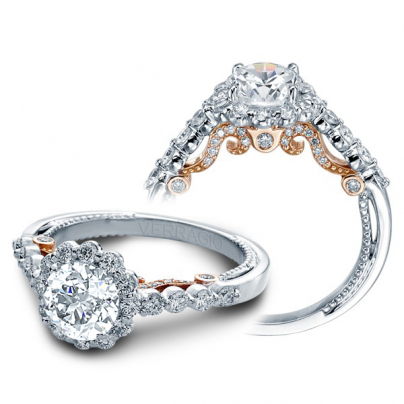 Tension Halo Engagement Rings