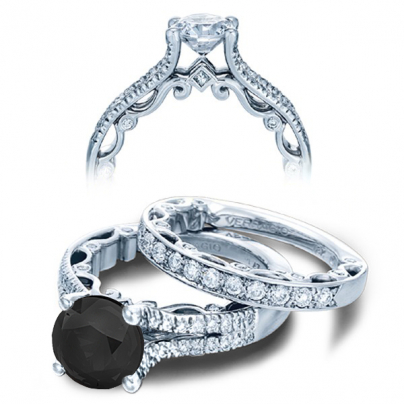 Pattern Black Diamond Engagement Rings