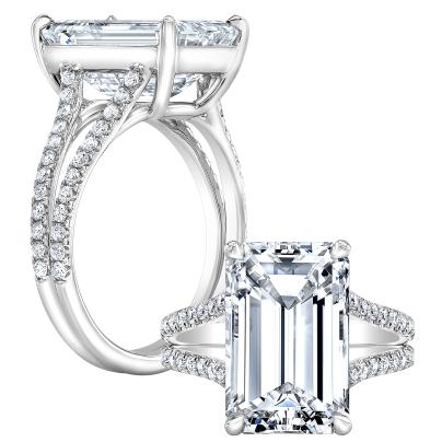Modern Split Shank Engagement Rings