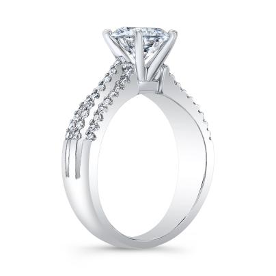 Asscher cut Split Shank Engagement Rings