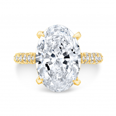 Yellow Gold Pave Engagement Rings