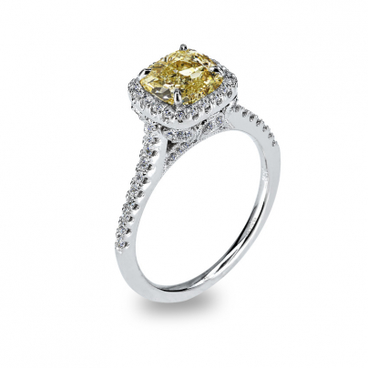 Trendy Yellow Diamond Engagement Rings