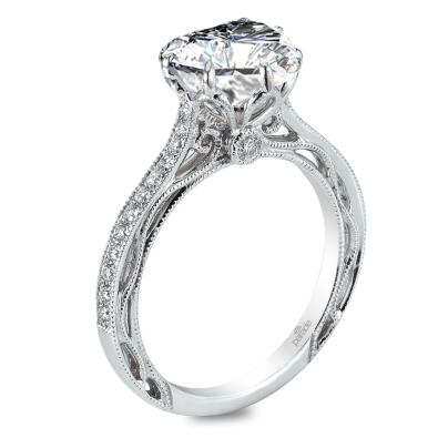 Split Shank Heart Shape Engagement Rings